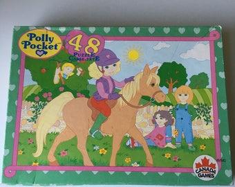 1992 Polly Pocket jigsaw puzzle Bluebird toys Canada Games 48 pieces horse equestrian