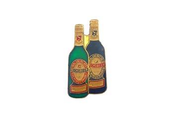 Becks Beer Pin Vintage Enamel