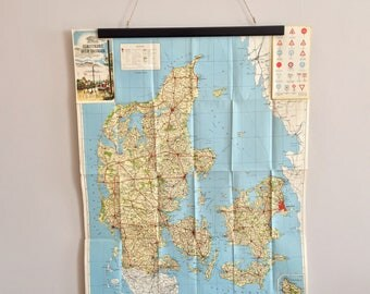 Car vacation in Denmark, then you need a vintage map!