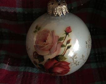 Vintage glass Christmas ornament