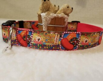 Crush Handmade Dog Collar 1 Inch Wide Large & Medium