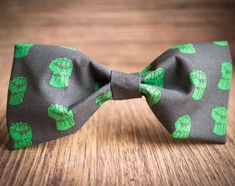 Hulk Pattern Bow tie