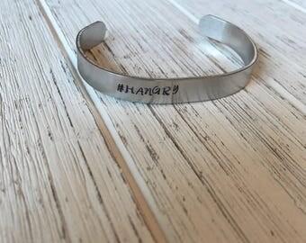 Hangry cuff bracelet | bangle | stamped cuff