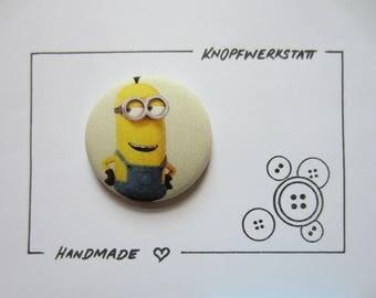 1 XXL fabric button 50 mm, buttons, children buttons, buttons, buttons, buttons, fabric buttons, button, buttons, sewing button, craft button, Minion