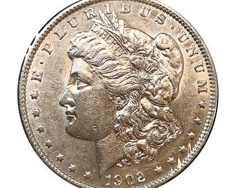 1902 Morgan Silver Dollar - AU - Almost Uncirculated