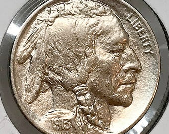1913 D Buffalo Nickel Type 1 - BU / MS / UNC