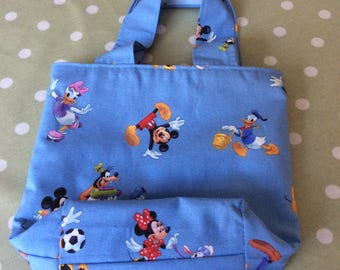 Disney Fabric lined Padded Lunch Bag or children's Bag - Small Fabric Bag