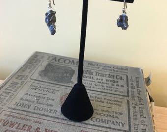 Meteorite sterling earrings
