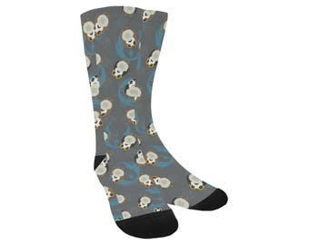 Porg Socks - Knee High Socks Star Wars socks Cosplay Socks Comicon Socks Sci-fi Socks The Last Jedi Socks Oddity Apparel Trouser Socks