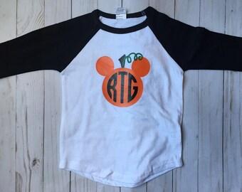 Toddler Boys monogram pumpkin shirt, Boys monogrammed halloween shirt, Boys personalized pumpkin shirt, Boys Thanksgiving Shirt,