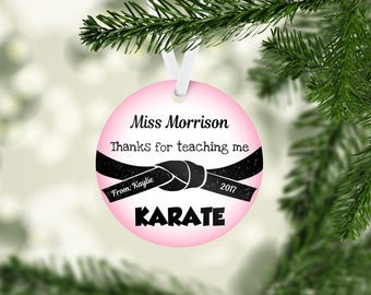 Thanks for Teaching Me Karate Ornament