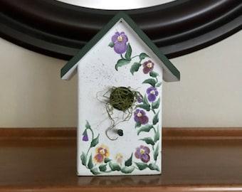 Pansy bird house decoration small