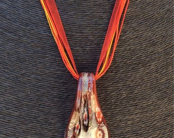 Beautiful Large Red Murano Glass Necklace.