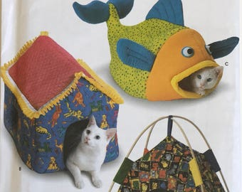 Simplicity Crafts 9004 Pet Cat Beds Uncut Out of Print Pattern, Copyright© 1999