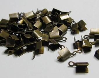 50 end caps 10 x 5 mm bronze.
