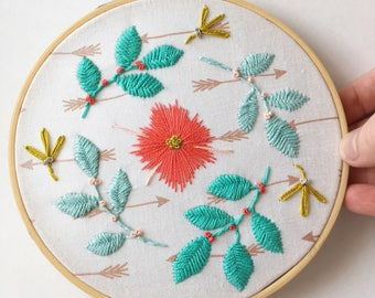 Embroidered Wall Art, Fibre Arts, Hanging Wall Art, Embroidery, Embroidery Art, Boho Wall Art, Boho Decor, Embroidered Art