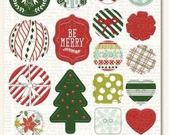 My Minds Eye - Cozy Christmas Collection - Chipboard Buttons