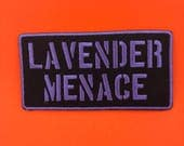 Lavender Menace Patch LGBT feminist patch feminism patch resist patch Lesbian patch Gay Girls Pride Patch gay patch Lesbian Girlfriend LGBT