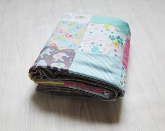 Animals! Baby Quilt Handmade Baby Patchwork Blanket