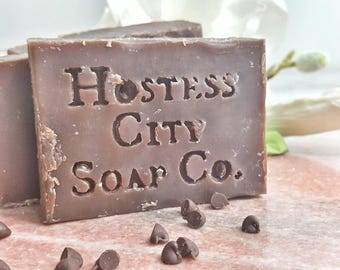 Brownie Batter Chocolate Soap | Real Cocoa Powder | All Natural Soap