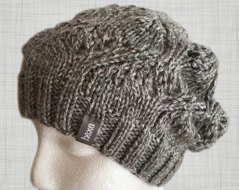 Grey Slouchy Beanie / Knit Accessories / Winter Hat Women / Slouchy Knit Beanie / Womens Accessories / Fall Knits / Womens Slouchy Knit Hat