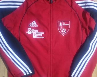 Adidas 90's Vintage Mens Tracksuit Top Jacket FC Tagerwilen Football Soccer