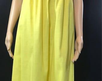 Sunny yellow vintage 1960s maxi dress