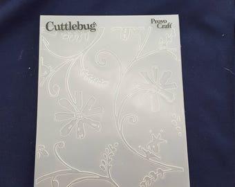 Cuttlebug stylized flower embossing folder