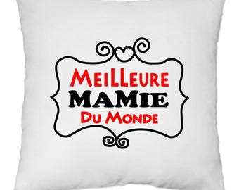 Cover cushion 40 x 40 cm - best Grandma in the world - great grandmother - Yonacrea