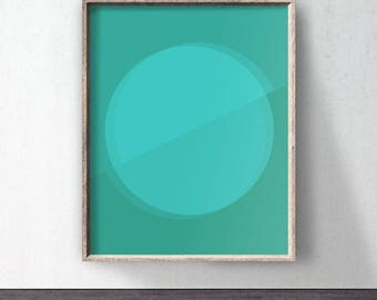 Green Poster download, Circle Art, Downloadable print, Green printable, Green wall decor, Abstract poster, Green art, Minimalist, Digital
