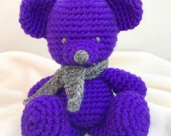 Crochet Bear, amigurumi bear, baby shower gift