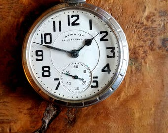 Hamilton Railway Special Pocket Watch, Hamilton Watch, 21 Jewels, Vintage Pocket Watch