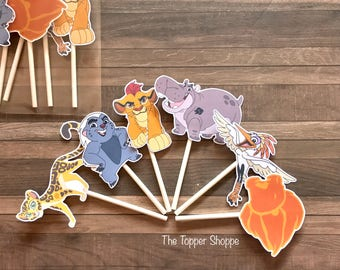 LION GUARD Cupcake Toppers / Cake Toppers / Die Cuts / Birthday Party / Decorations / Cake Pops / Supplies / Decor / Fast Shipping