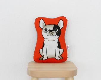 Bulldog -  Hektor - plush stuffed animal pillow kids room nursery
