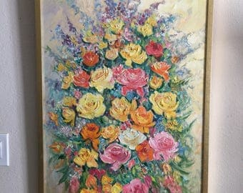 Impressionist Still Life Painting • Large Original Painting Artwork Floral Bouquet