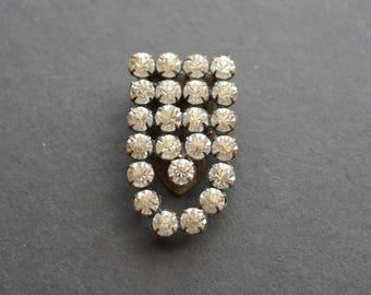 Art deco vintage rhinestone diamante paste dress clip