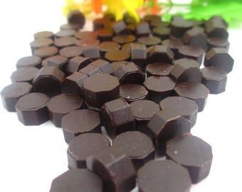 Sealing wax/wax seal 50 piece set dark brown
