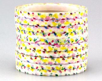 Washi tape 4 mm aluminium adhesive/1 piece. 10 m with decorations