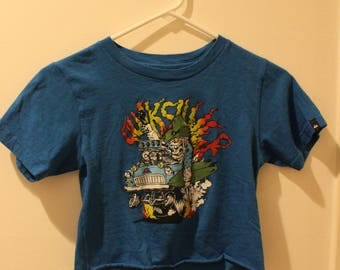 really cool cropped t-shirt vintage - quicksilver cartoon