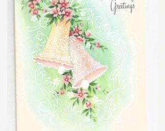"On Sale 1960s Lovely Anniversary Card ""Anniversary Greetings"""