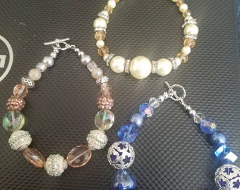Set of Three Beaded Bracelets
