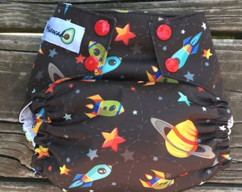 OMMO One Size Cloth Diaper Space Race