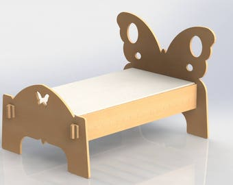 Childrens Butterfly Bed - Vector Drawing DXF For Cutting CNC or Router Laser 051