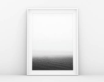 Water Horizon - Calm Sea - Ocean & Seascape Print - Minimalistic Poster - Modern Printable Wall Art - Scandinavian Print - Nordic Art Print