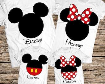 Family disney world shirts, Disney Family Shirts, Matching Family Disney Shirts, Personalized Disney Shirts for Family and Women, Disney