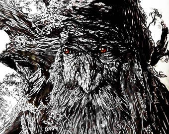 ENT markers drawing fangorn forest more posca on a3 paper