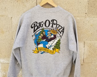 Quirky Vintage Utah Ski Pizza Sweater by Goodies and Co