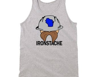 Paul Ryan's Challenger Randy Bryce Ironstache Shirt Wisconsin Political Grey Tank Top
