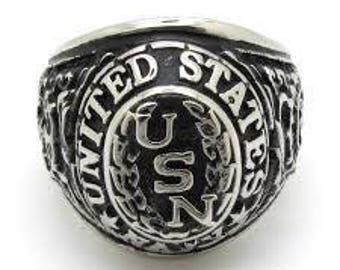 United States Navy USN Stainless Steel Ring