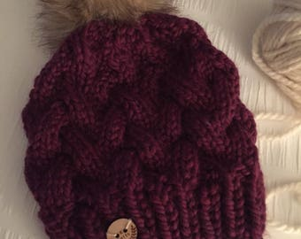"""The """"KELLER"""" cable knit winter hat"""